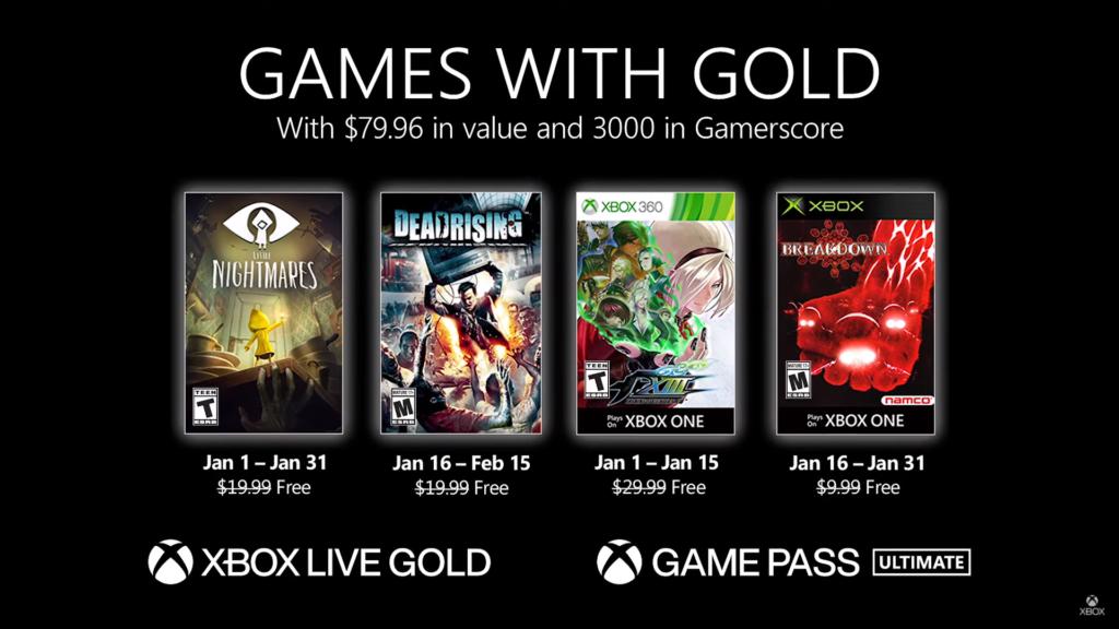 Games With Gold Janeiro de 2021